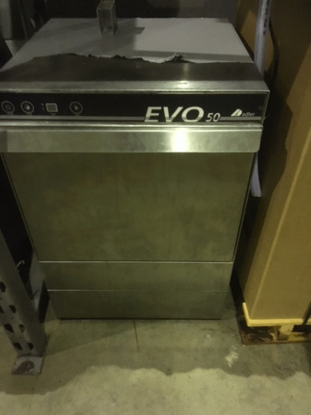 Dish Washer - Used Adler EVO 50 Single Phase Washer - Gravity Drainage - Only 6 months Old -Bargain