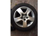4 Alloy Weels and Tyres for 2003 Audi A4