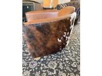 Cowhide chair and stool