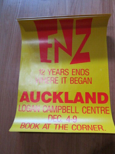 SPLIT ENZ Concert poster Auckland  12 years ends where it began