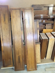 Assorted walnut kitchen cabinet doors and drawers