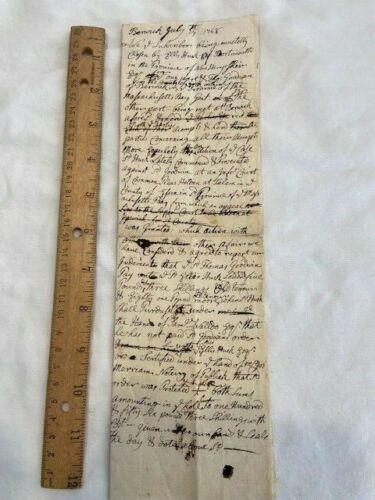 1748 Berwick ME Salem MA trial notes Colonial document Judge Joseph Hill