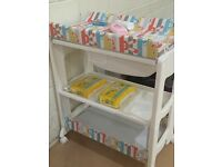 Peachy baby changing unit £30