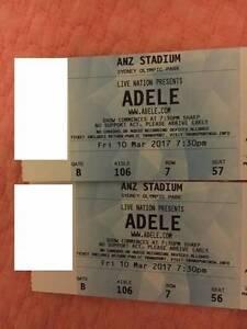 2 x Adele Sydney Hardcopy  A reserve Tickets Fri 10 March 2017 Ashfield Ashfield Area Preview