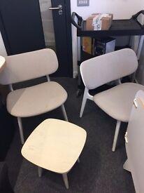 Modus PLC Lounge White/Grey chairs x 2