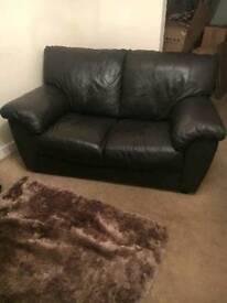 Dark Brown 3 & 2 seater sofa's
