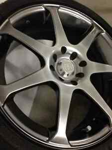 "17"" Motegi Black Metallic R7 Rims"