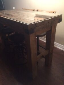 Reclaimed Wood Bar Height Table & Chairs from Cornerstone
