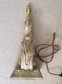 PAIR of Indian Scroll Lampbases HARDLY USED - BATTERSEA COLLECTION