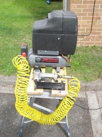 Compressor (small) with nail gun
