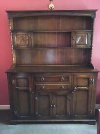 Welsh Dresser dark oak 1930's