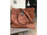 Last Minute bargain - Michael Kors brand new Hamilton style large brown leather handbag
