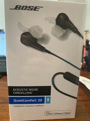 NEW STILL IN BOX Bose QuietComfort QC20i Acoustic Noise Cancelling Earphone