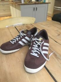 purchase cheap 210fe 62a0e Size 10 Adidas Originals Mens Beckenbauer All Round Trainers Vintage Brown  White