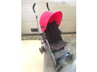Mamas & Papas Red Buggy, Pushchair, Stroller. Great condition,