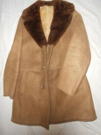 A real SHEEP SKIN COAT - Size L to XL