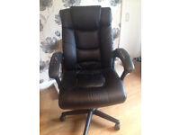 Faux Leather Desk Chair