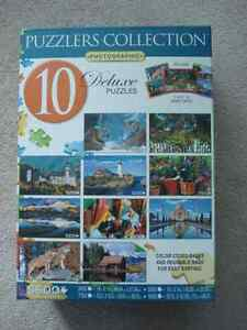 Puzzlers Collection -10 Deluxe Puzzles-new price Kitchener / Waterloo Kitchener Area image 1