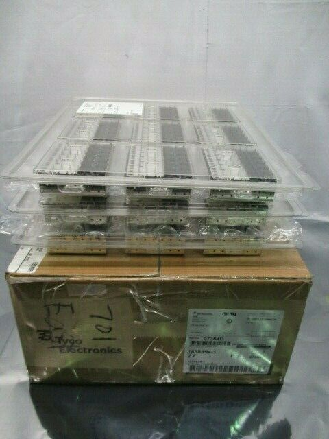 1 Lot of 27 TE connectivity 1658894-1 I/O Connectors 2 X 6 SFP CAGE, 100885