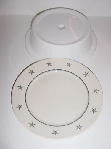 SS UNITED STATES LINES  Grey-Star Dinner Plate w/ Plate Cover / Excellent Cond.