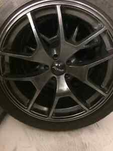 245/40R18 Michelin Psports on Alloy rims 5X100 w/ nuts and key