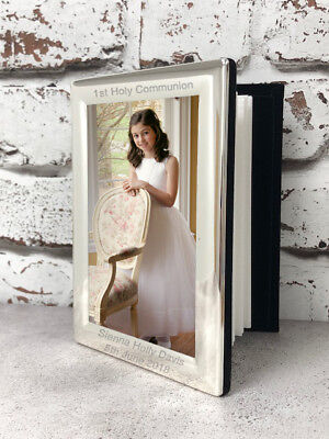 Personalised Silver Photo Albums Gifts Ideas For 1st First Holy Communion Girls (Girl Communion Gift Ideas)