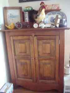 antique pine jam jelly cabinet
