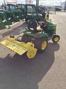 "2016  X580 TRACTOR WITH 54"" DECK AND 42"" HYDRAULIC TILLER Strathcona County Edmonton Area image 4"