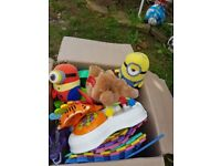 Toys large box about 100 toys