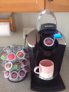 NEW Keurig Coffee Maker with extra coffee pods & Carousel