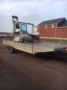 boat for oyster cages
