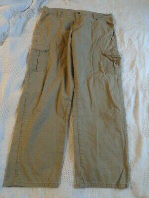 Wrangler Cargo Pants Men's 40 X 32 Tan Straight Leg