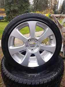 215/45R17 rims and tires Prince George British Columbia image 1