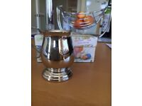 """Silver-plated Grenadier 1318 Christening cup- 3"""" tall"""