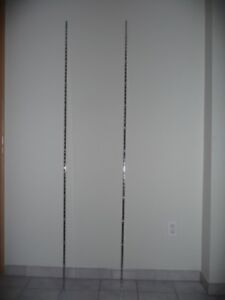 Platinum shelf rail and brackets