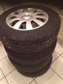 New Vauxhall Vivaro steel wheels with tyres 215-65R-16C Goodyear Marathon x4 New