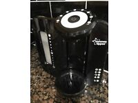 Tommee Tippee Black Perfect Prep Machine with 6 muslin cloths