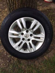 Michelin tires on Nissan rims