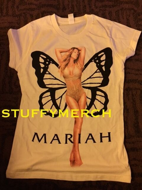 MARIAH CAREY OFFICIAL ELUSIVE CHANTEUSE TOUR LADIES MEDIUM SHIRT RARE CAUTION