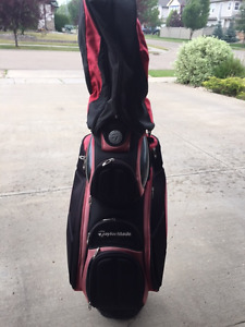 TAYLORMADE Golf Club Staff Cart Caddy Bag With Detachable Rain H