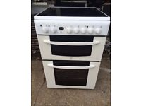 £125.24 indesitceramic electric cooker+60cm+3 months warranty for £125.24