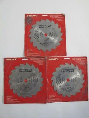 Lot Of 3 Hilti New Carbide Tooth 7-14 X18 High Performance Circular Saw Blades