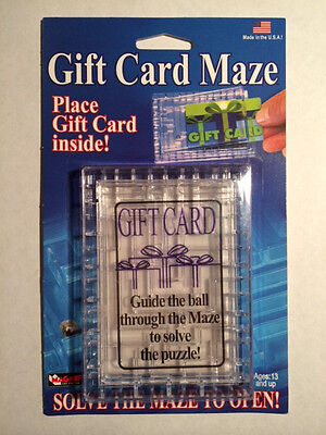 Gift Card Maze - Puzzle Brain Teaser - Fun Challenge Gag Gift Holder