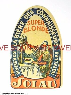 Scarce France Solau Novelles Super Blonde Biere Tavern Trove French Beer (French Blonde Beer)
