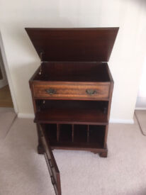 Mahogany chest suitable for record deck and storage