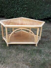 Cane low corner table