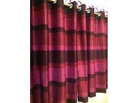 Pair of Purple Eyelet Curtains