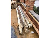 10x Slotted 9 foot Concrete Posts (100 x 60 x 2740mm)