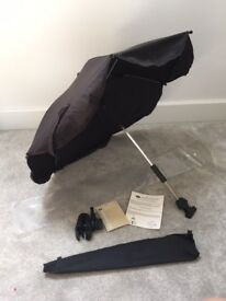 Boots Black Pushchair Parasol *AS NEW* In Packaging