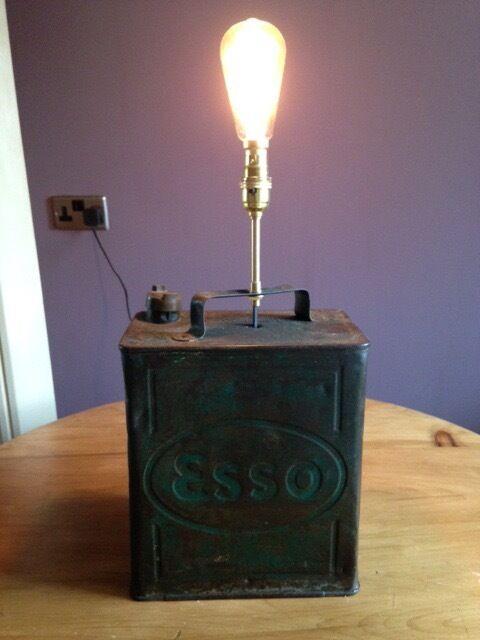 Genuine And Unusual Vintage Petrol Can Lamp In York